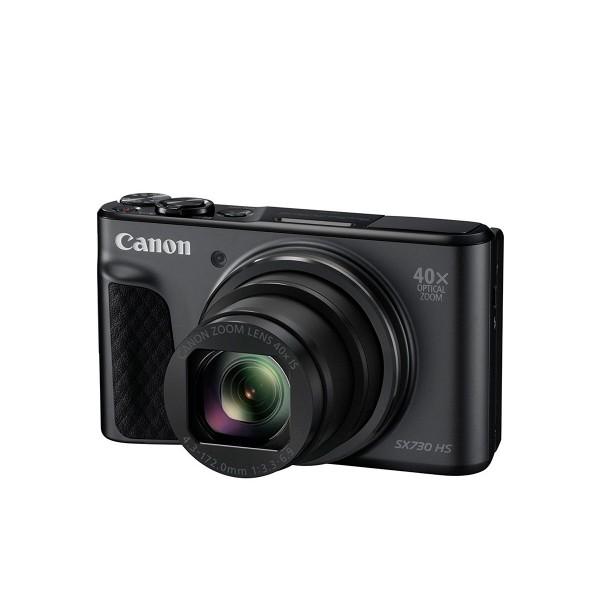 Canon powershot sx730 negro cámara de fotos digital compacta 20.3mp fhd zoom óptico estabilizador inteligente wifi bluetooth nfc