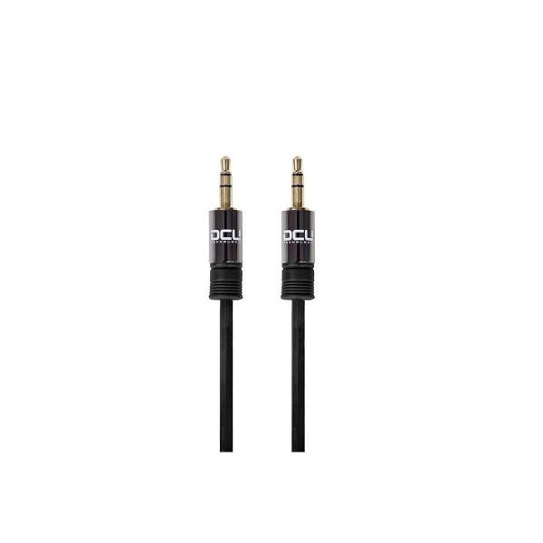 Dcu cable negro jack 3.5 st macho a  jack 3.5 st macho 1,5 metros