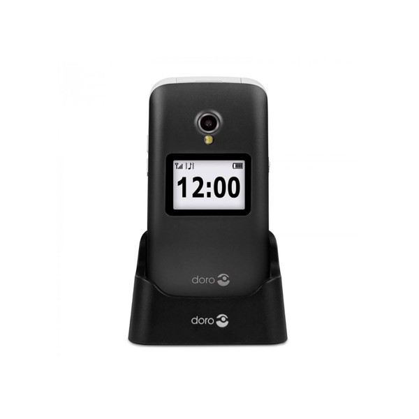 Doro 2424 negro blanco móvil senior 2.4'' notificaciones cámara 3mp bluetooth radio fm micro sd