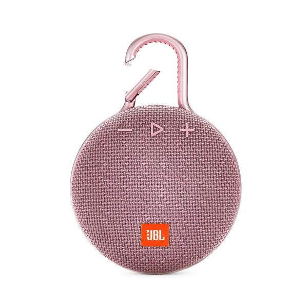 Jbl clip 3 rosa altavoz portátil 3w rms bluetooth mosquetón integrado impermeable ipx7