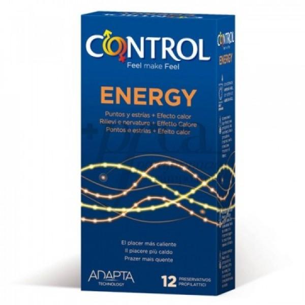 CONTROL ENERGY  12 U PRESERVATIVOS