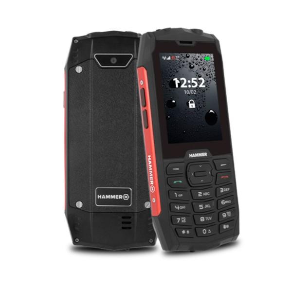 Myphone hammer 4 rojo móvil resistente ip68 dual sim 2.8'' tft cámara bluetooth radio fm