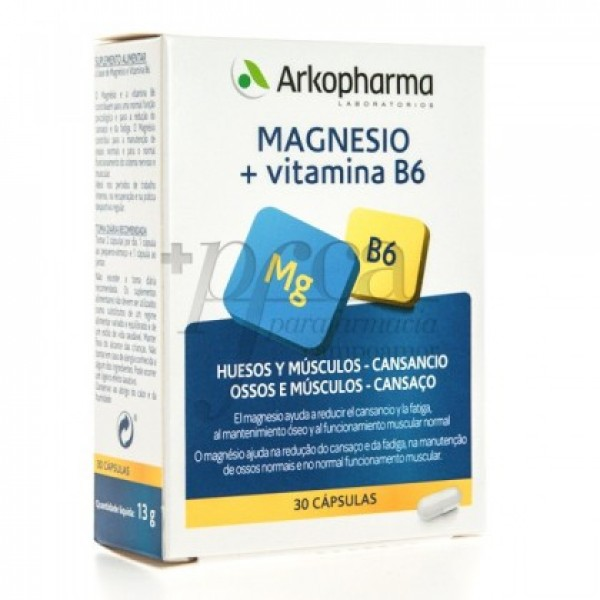 ARKOVITAL MAGNESIO VITAMINA B6 30 CAPS