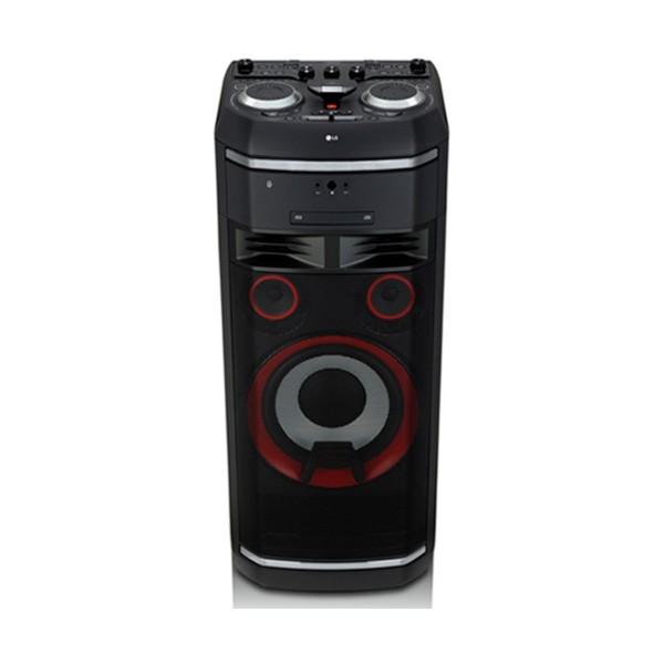 Lg xboom ol100 sistema de audio de alto voltaje portatil 2000w bluetooth usb funciones dj y karaoke