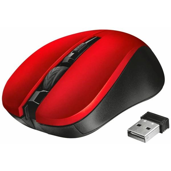 Trust mydo silent click wireless rojo ratón inalámbrico