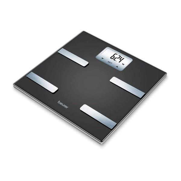 Beurer bf-530 báscula diágnostica corporal electrónica  color negro con pantalla lcd retroiluminación blanca