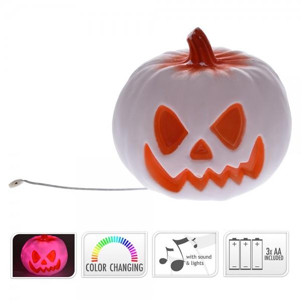 calabaza halloween con luz y sonido